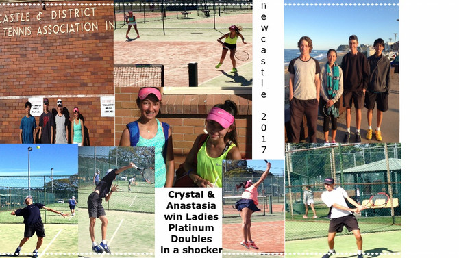 Crystal and Anastasia win Platinum Doubles