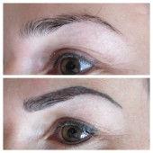 Permanent Make Up Augenbrauen vorher nachher