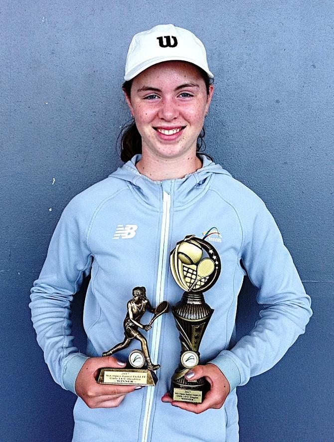 Talia dominant at Junior Hopman Cup
