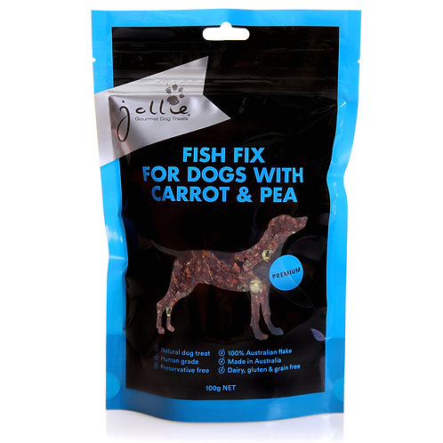 Fish Fix for Dogs with Carrot & Pea 100g Pouch