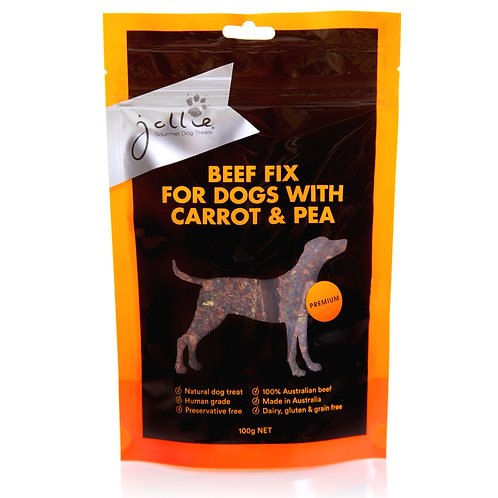 Beef Fix for Dogs with Carrot & Pea 100g Pouch