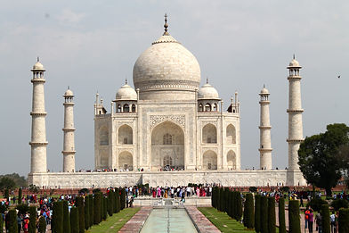 Front view of the Taj Mahal, Agra, India