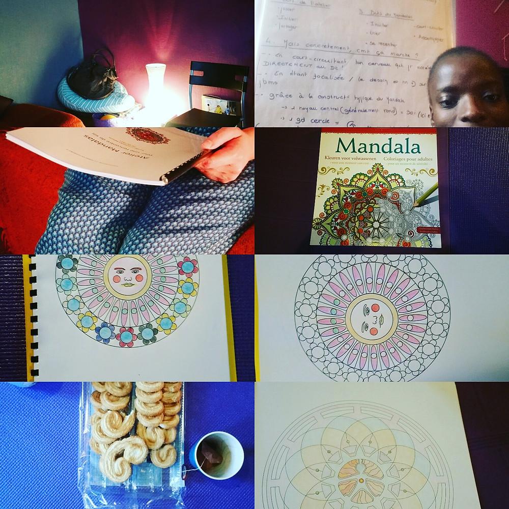 Atelier Mandalas I Temps forts et d'échanges I Blégny I Kaléidoscope : La Femme En Harmonie I Karidja