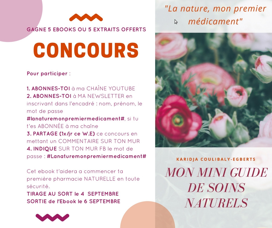 Concours ebook Mon mini guide de soins naturel