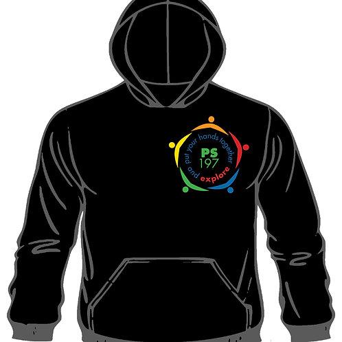 School Hooded Pullover Sweatshirt In Black