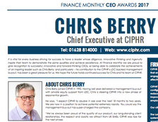 Finance Monthly CEO awards