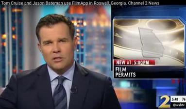 Tom Cruise and Jason Bateman use FilmApp in Roswell, Georgia. Channel 2 News