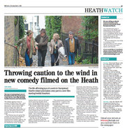 Throwing caution to the wind in new comedy filmed on the Heath