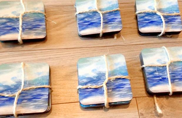 ocean drink coasters