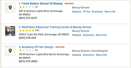 Reviews of top three beauty schools in Anchorage, Alaska