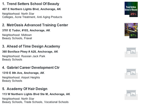 Beauty School Listings by Google in Anchorage Alaska AK