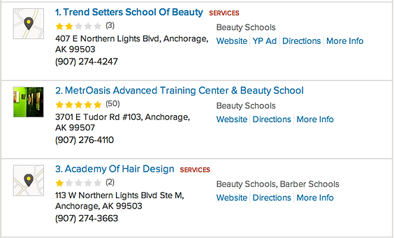 Beauty School Listings by the YellowPages in Anchorage Alaska AK