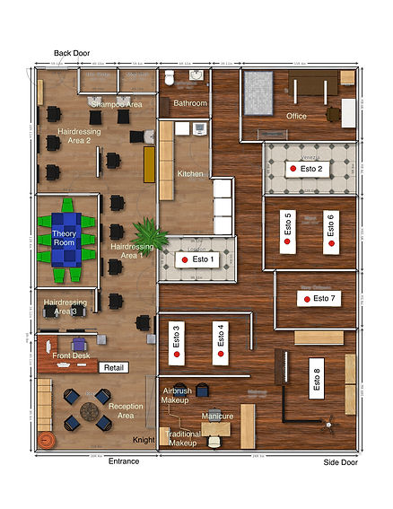 MetrOasis Beauty School & Advanced Training Center Floor Plan
