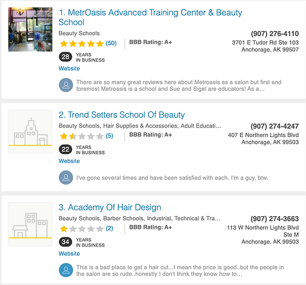 MetrOasis YellowPages Reviews.png
