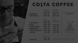 Costa Coffee Digital Menu