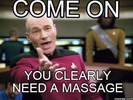 Listen to your captain book a massage today!