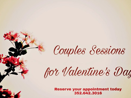 Spaces for Valentine's Day weekend are filling up!