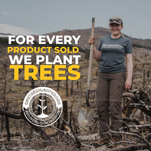 Tackle Sustainability charity photo, We plant trees for every product sold
