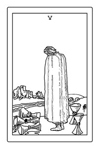 5 of Cups illustration