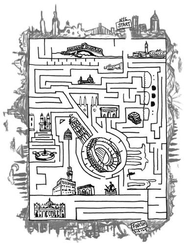 Maze illustration