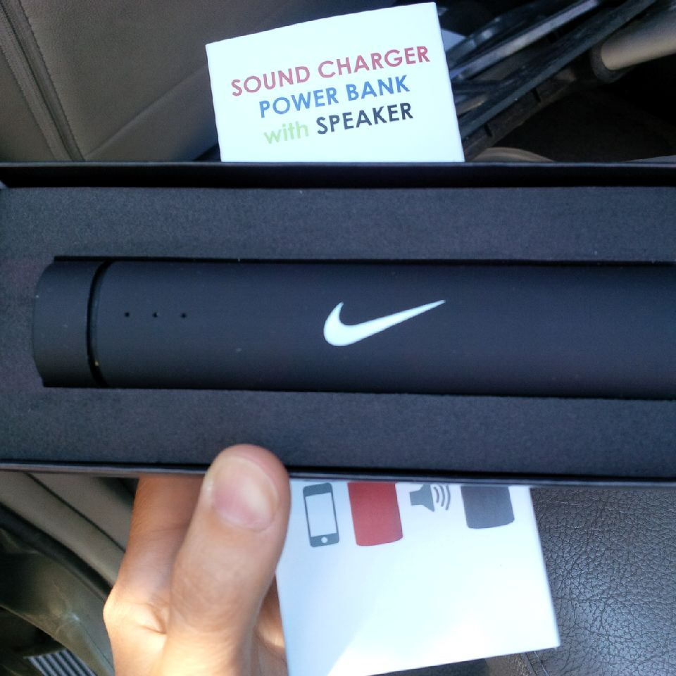 Nike branded portable phone charger