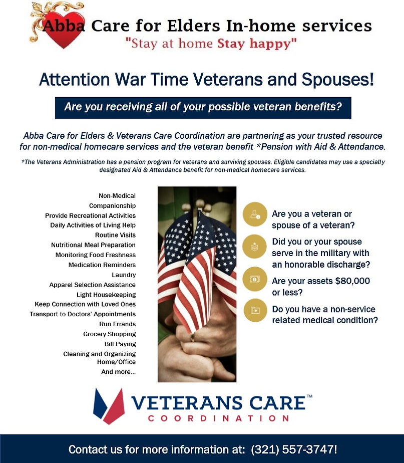 FREE Veterans Services | Home Care Services