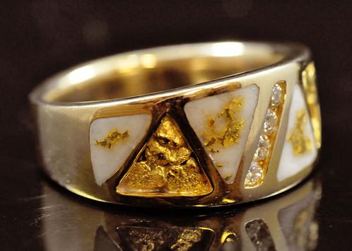 Gold Quartz RingRM883D20NQ White Buffalo Truckee