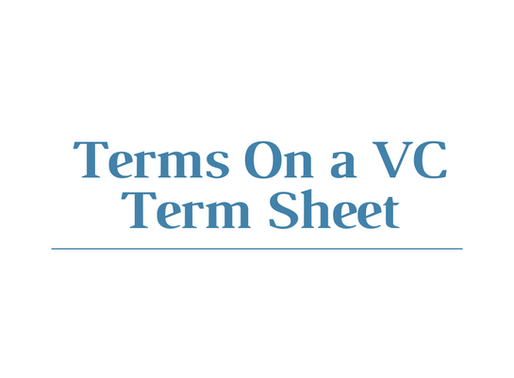 Terms on a VC Term Sheet