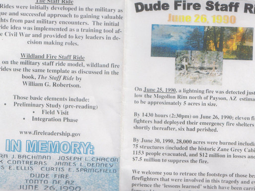 Where Was The Local USFS Recognition And Representation For The 30th Anniversary Of The Dude Fire?