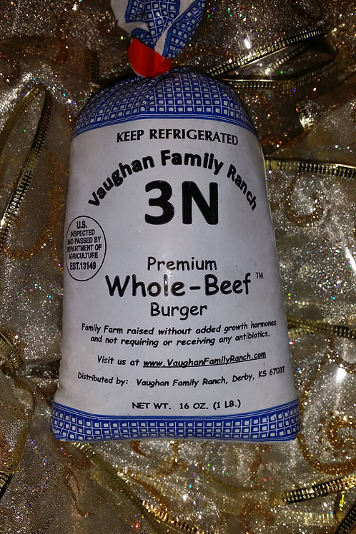 Premium Whole-Beef Burger  - Approx. 93/7 - $6.45 lb