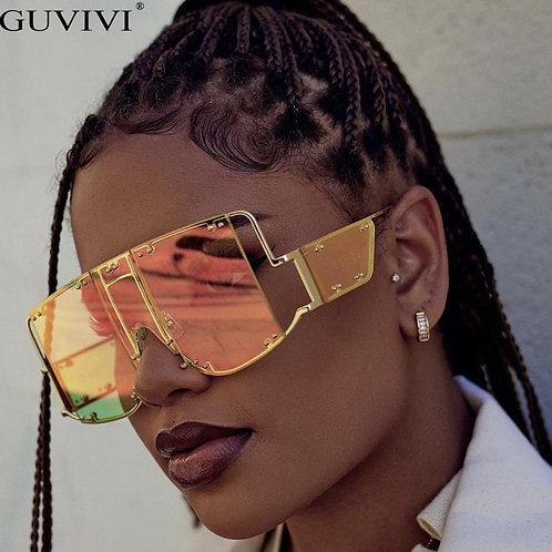 Oversized Sunglasses Women-Rihanna UV400