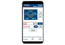 Bluetooth airflow control for 2 zones