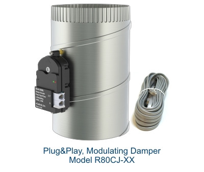 R80CJ Plug&Play, Modulating Damper
