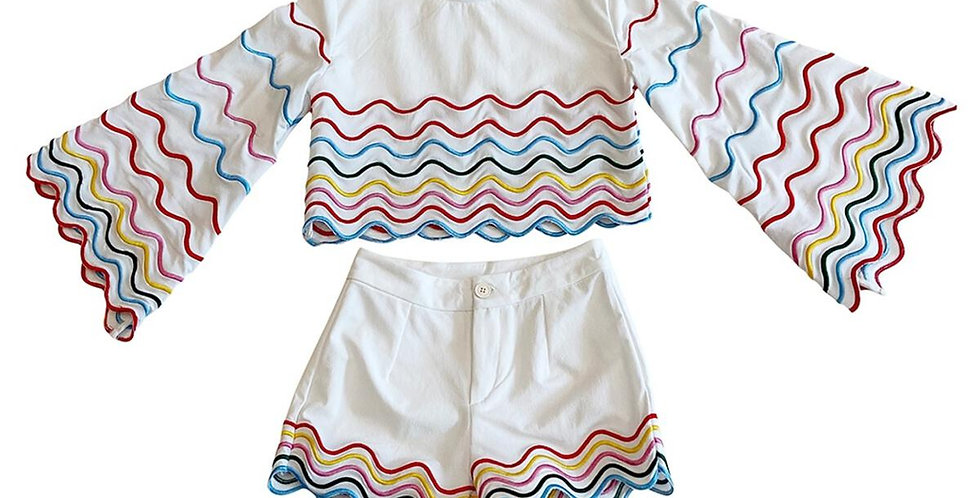 Rainbow Wave Short Set