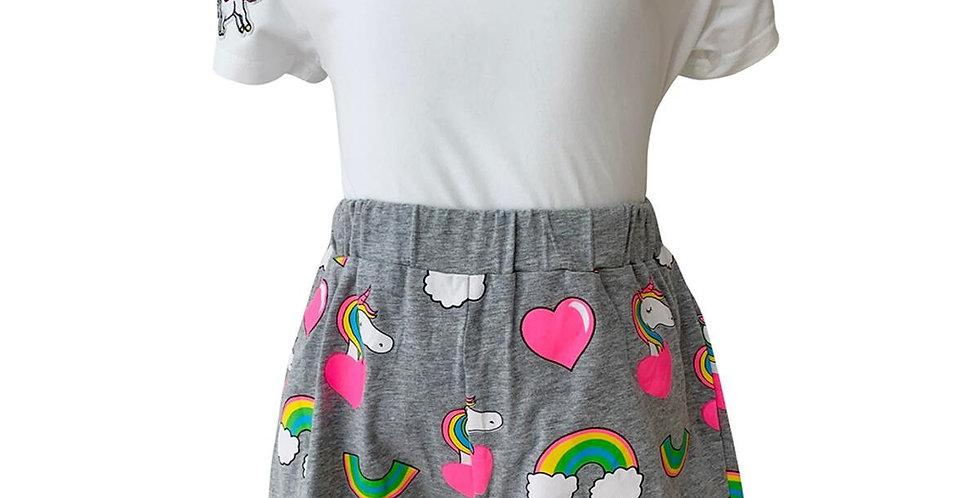 Unicorn & Hearts Shorts