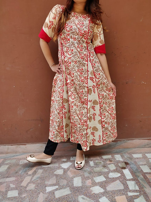 Pure cotton slub printed Kurta (LOSA49)