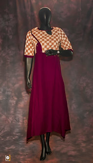 Rich Flowing dress with hand stitched jacket