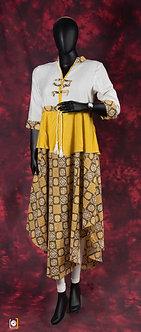 Sunflower yellow flowing cotton kurti