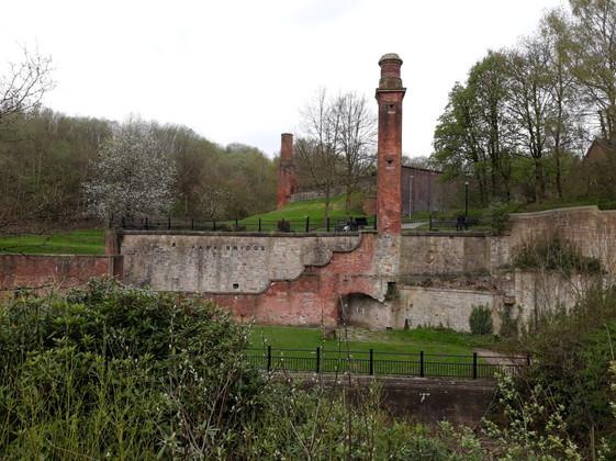 The remains of Park Bridge, now a heritage site
