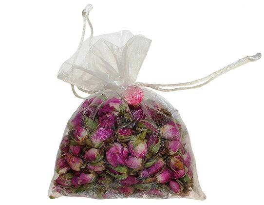 Rose Organza Bag-Ivory