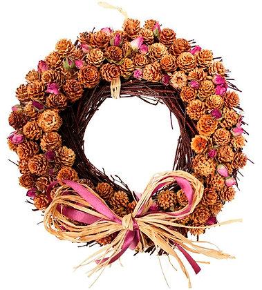 Winter Rose Wreath: Round