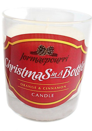 Christmas in a Bottle Glass Candle