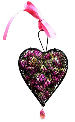 Rose Metal Mesh Heart (2 sizes available)