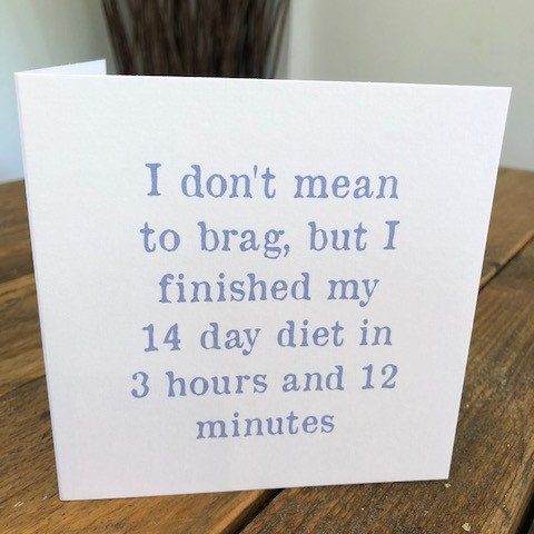 i don't mean to brag but greeting card