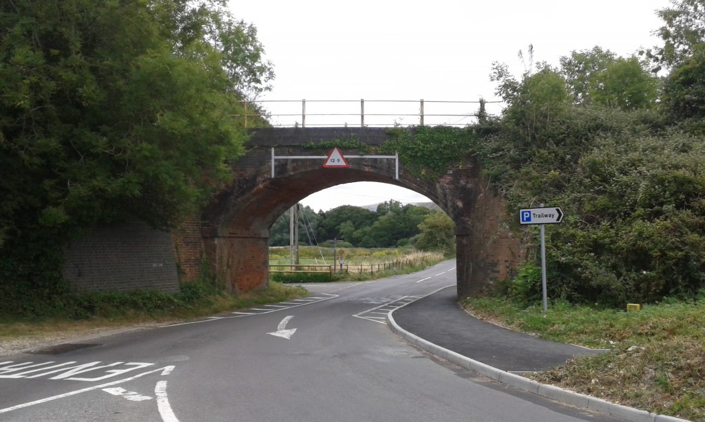 Mary Abbott, the farm manager's daughter, loved this spot at Lamb House Bridge, under the heavy brick railway arch, hooded by its curved, crusted ceiling (Part I., Chapter 2)