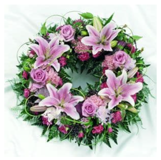 Pretty Pink Wreath from £45