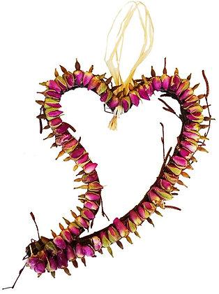Flat Rose Heart: Hanging