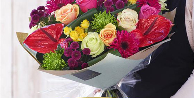 Florist Choice - Hand Tied - Brights - Luxury