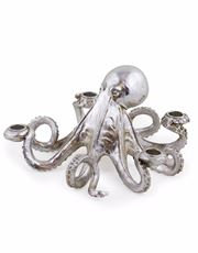 Silver Octopus Candle Stick