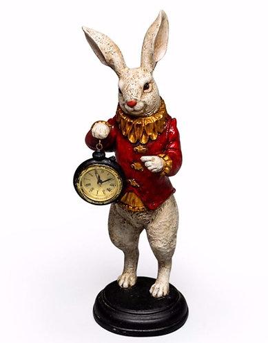 The White Rabbit Standing Clock Figure